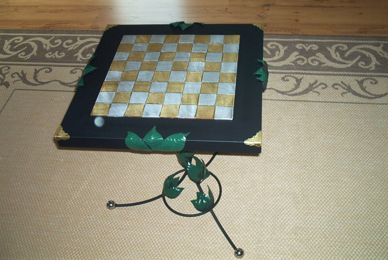 hand made chess table