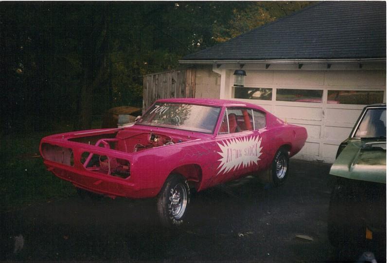 68 Cuda drag car